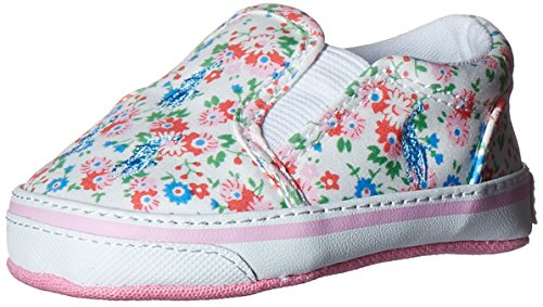 Ralph Lauren Layette Bal Harbour repeat Slip On (Infant/Toddler), White Floral, 4 M US Toddler