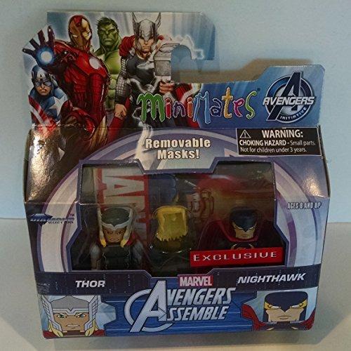 Minimates Marvel Avengers Assemble Thor & Nighthawk Minifigures]()