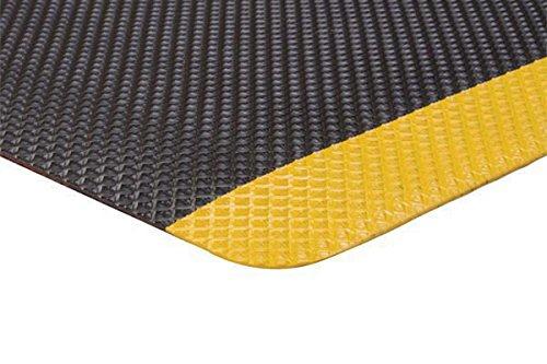 Supreme Sliptech Mat - MatsMatsMats.com SlipTech Supreme Safety Anti-Fatigue Mat, 3' x 5', Black with Yellow Border