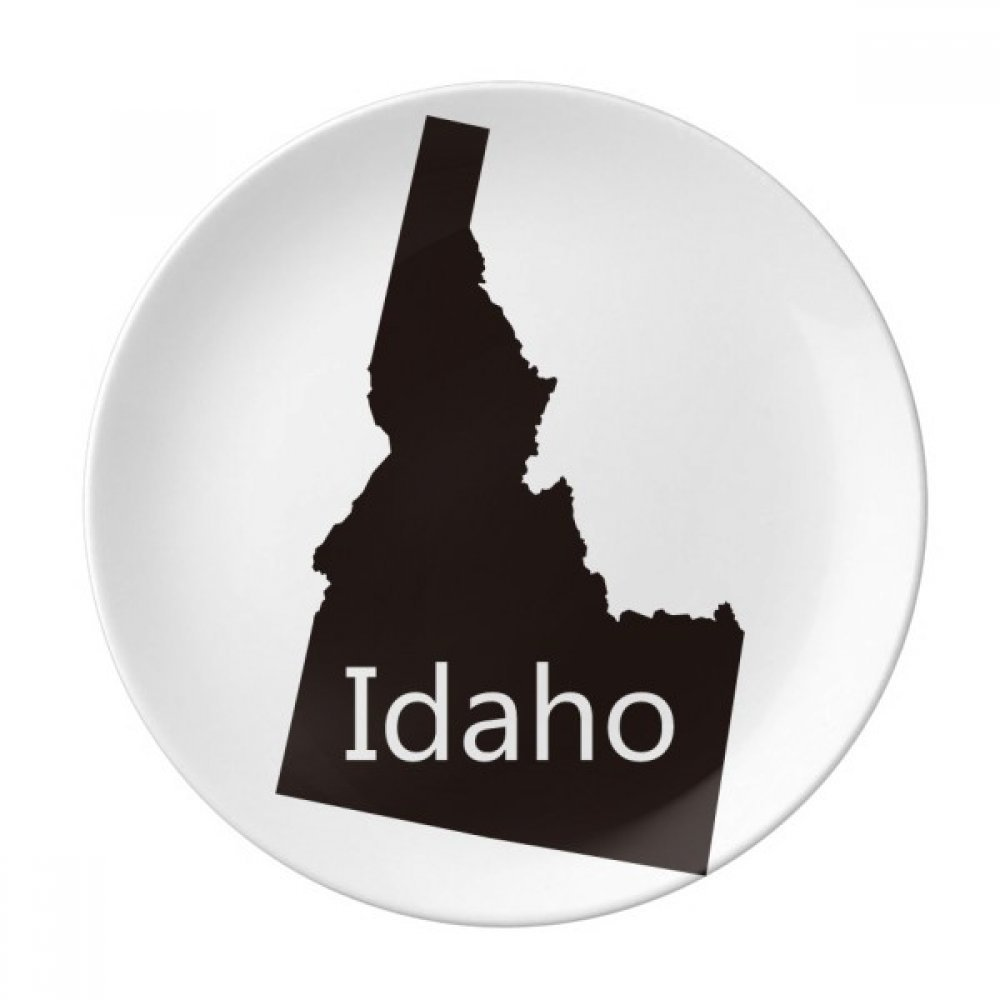 Idaho The United States Of America Map Dessert Plate Decorative Porcelain 8 inch Dinner Home