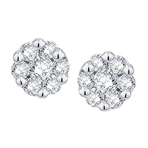 Giantti Diamant pour femme Boucles d'oreilles à tige (0.1524CT, qualité HSI, Gh-colour)