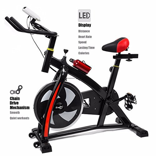 Exercise Bike Stationary Cycling Cardio Workout Fitness LED Screen XtremepowerUS