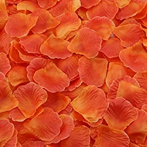 Gresorth Orange Red Artificial Silk Rose Petals Fake Petal Flower Home Garden Wedding Decoration - 2000 PCS 10