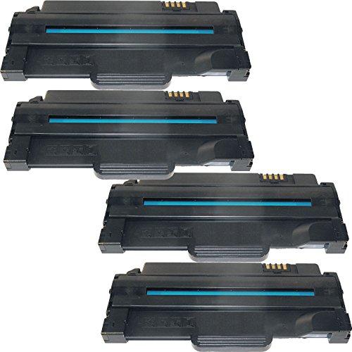 4 Inktoneram® Replacement toner cartridges for Dell 1130 / 1133