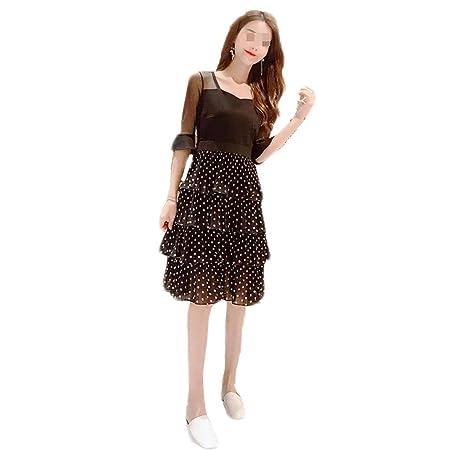 Vestido, Falda Larga Plisada de Punto de Onda de Gasa de Vestir 2 ...