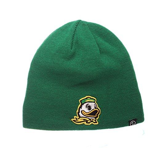 (Zephyr NCAA Edge Reverse Knit Beanie (Oregon Ducks))