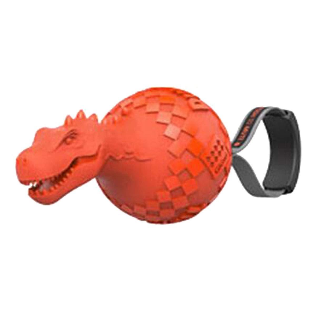 orange Hongyushanghang Dog Toy, Big Dog Rubber Chew Toy, Dog Stretch Tyrannosaurus Vocal Toy, Purple, bluee, orange, Green, (15.3  8  8.1cm) fine (color   orange)