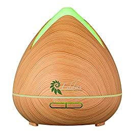 Eddax Aromatherapy Mist Diffuser – Essential Oils Aroma Humidifier with Auto Shut Off Function, 7 Colors LED Light…