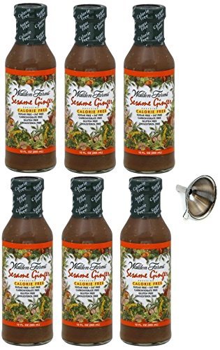 Walden Farms Sesame Ginger Salad Dressing 12 fl oz, 6 Pack With Funnel