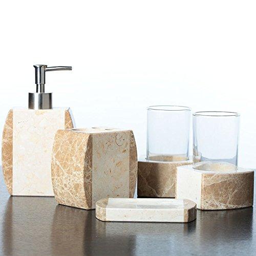 SAEJJ-Natural jade stone stone bathroom toilet set of five distinguished wedding gifts housewarming gifts-marble Bath ensemble by SAEJJ