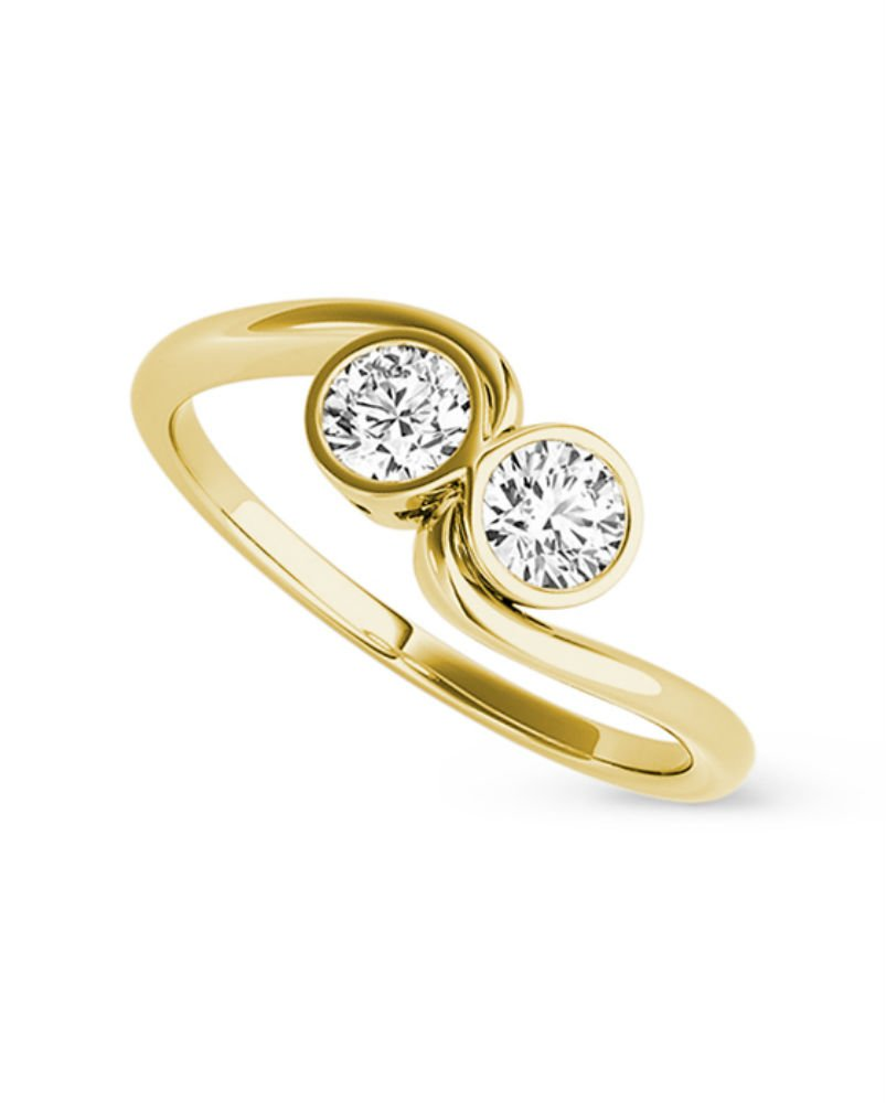 Forever Classic Round 4.0mm Moissanite Ring-size 6, 0.46cttw DEW By Charles & Colvard