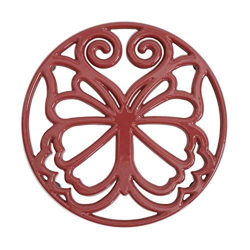 Buy The Pioneer Woman Cast Iron 8'' Timeless Beauty Trivet Salvamanteles Enameled Claret