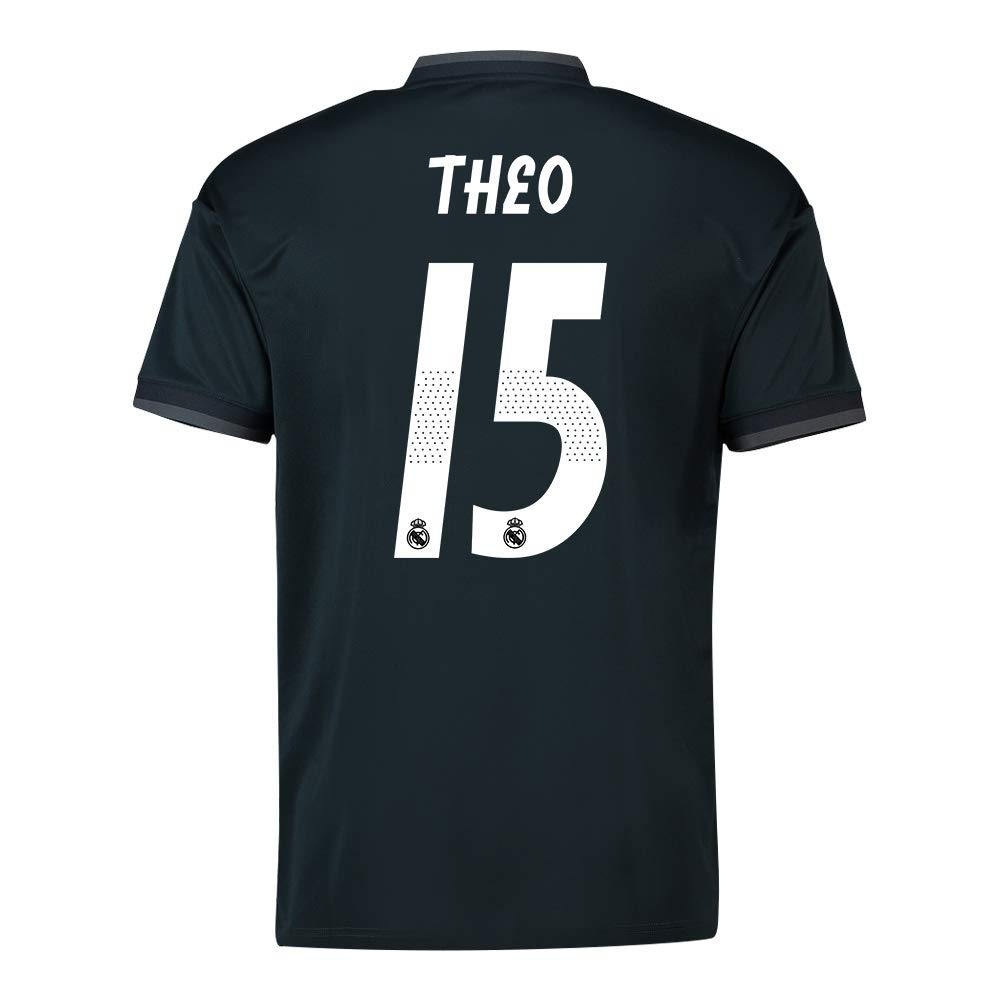 2018-19 Real Madrid Away Football Soccer T-Shirt Trikot (Theo Hernandez 15) - Kids