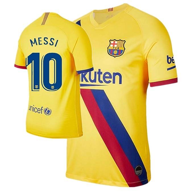 quality design 4d4f5 e1d7f Amazon.com: New Messi #10 Barcelona Away Mens Soccer Jersey ...
