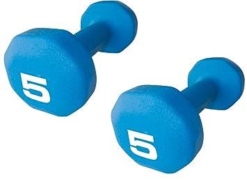 Set de 2 - Fitness Gear 5 lb neopreno mancuerna: Amazon.es: Deportes y aire libre
