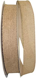 Reliant Ribbon Burlap Value Wired Edge Ribbon, 1-1/2 Inch X 50 Yards, Natural