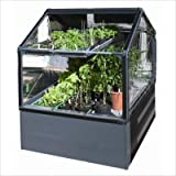 GrowCamp FC3050 Ultimate Vegetable Grower (4′ x 4′ x 12″) with 3-Feet high greenhouse frame For Sale