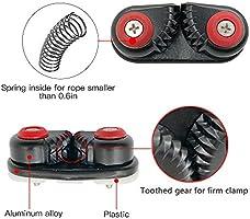 Mizugiwa Marine Nylon Fast Entry Cam Cleat for Line Rope Size Upto 5//8-Inch,16mm