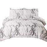 Bedsure King Duvet Cover Set with Zipper Closure-Printed Marble Design,(104'x90')-3 Piece (1 Duvet Cover + 2 Pillow Shams)-Ultra Soft Hypoallergenic Microfiber