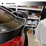 JC SPORTLINE E71 CF Rear Trunk Lip, fits BMW X6 X6M 2008-2014 Carbon Fiber Rear Deck Lid Boot Wing Spoiler