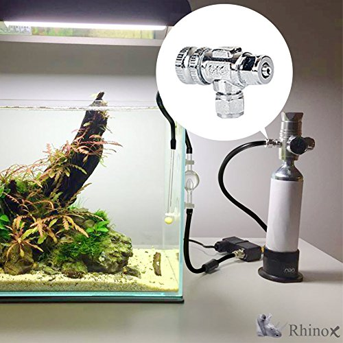 Product image of Rhinox Copper Needle Valve - Necessary for Accurate CO2 Regulation in Solenoid Fish Tanks - Easy to Install - C02 Adjustment Valve - Used CO2 Diffuser Set