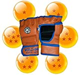 Goku Style MMA UFC 100% Leather Gloves for Martial Arts Training. Great Equipment for all Sports...