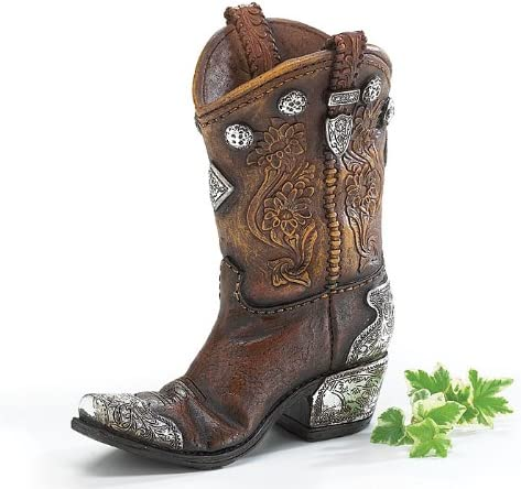 Burton Burton Boots and Spurs Western Cowboy Boot Vase for Western Home Decor