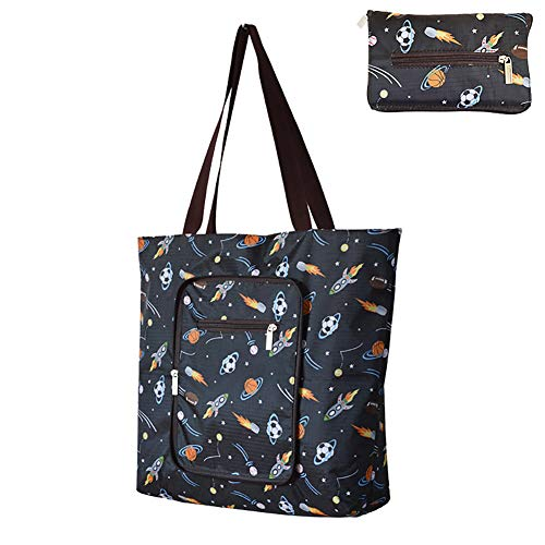 Powerfulline Fashion Foldable Shopping Bag Travel Grocery Storage Tote Pouch Handbag 9# from Powerfulline