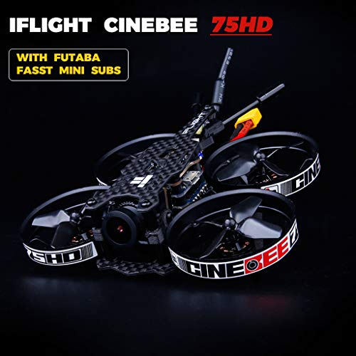 2019 Mini Lightweight Racing Drone - iFlight CineBee 75HD 2-3S Brushless Micro Indoor FPV 1080p Racing Drone Whoop 75mm BNF Micro Quadcopter (with UTABA FASST MINI SUBS)