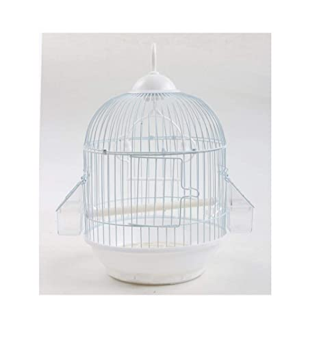Yanxinenjoy Jaula de pájaros pájaro Redondo de Hierro Forjado ...