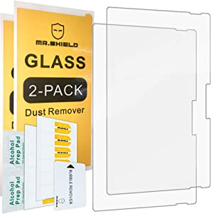 [2-Pack]-Mr.Shield For Microsoft Surface Pro 7 [Tempered Glass] Screen Protector [0.3mm Ultra Thin 9H Hardness 2.5D Round Edge] with Lifetime Replacement