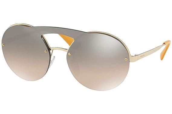 315a2d5e0870 Image Unavailable. Image not available for. Color  Prada PR65TS Sunglasses  Pale Gold w Brown Gradient ...