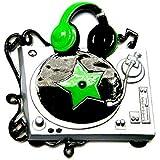 DJ Turntable Personalized Christmas Tree Ornament by Polar X