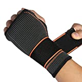 UNKE Adjustable Wrist Support Sleeve Wrist Wraps Brace for Carpal Tunnel, Tendonitis, Weightlifting, Basketball, Tennis