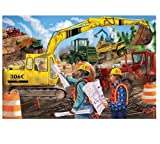 : Melissa & Doug Construction Floor Puzzle With Extra-Thick Cardboard Pieces  (24 pcs, 2 x 3 feet)