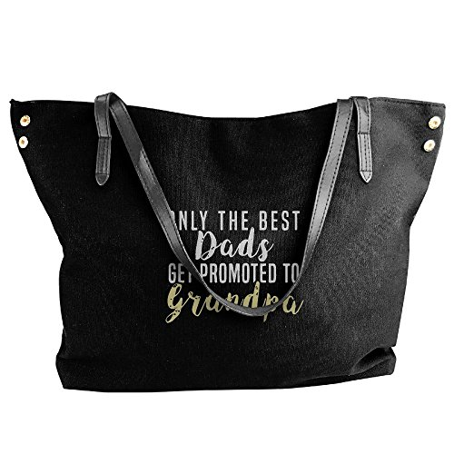 Women's Hobo Tote Handbag Black To Get The Canvas Only Grandpa Large Promoted Handbag Bag Dads Best Shoulder Tote OBpO1qU