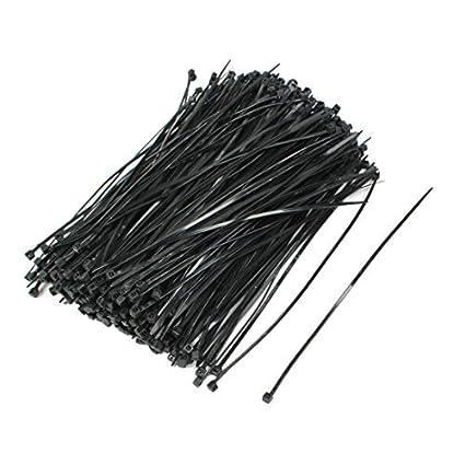Amazon.com: eDealMax Nylon Sujetador Cable Pack Zip Tie dientes de agarre, 5x100mm, 500 PC, Negro: Electronics