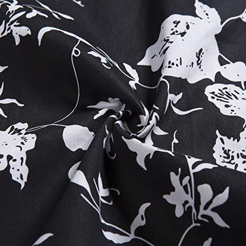 '50 Bianco Donna Vintage Con Santimon Bellissima Per cintura Cocktail Abiti Florals di Maniche anni il Senza Nozze qwddxIa