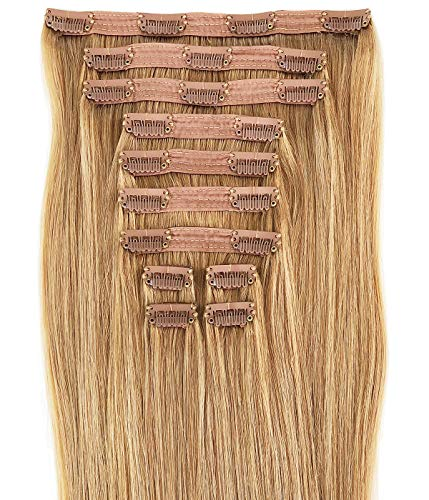Maxy #18 Dirty Blonde Clip In 100% Human Hair Extensions 20