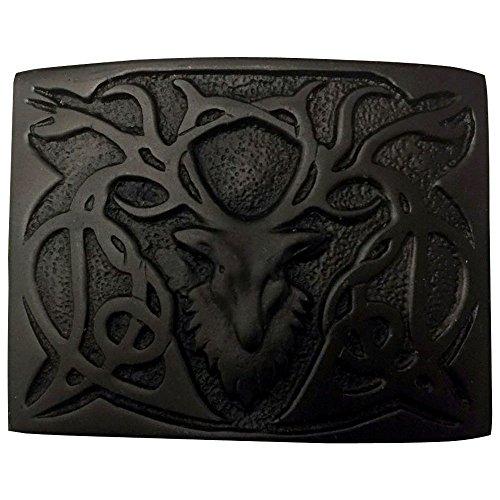 AAR Scottish Kilt Belt Buckle Stag Head - 3