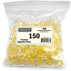 Efficient Disposable Cigarette Filters - Bulk Economy Pack (150 Per Pack)