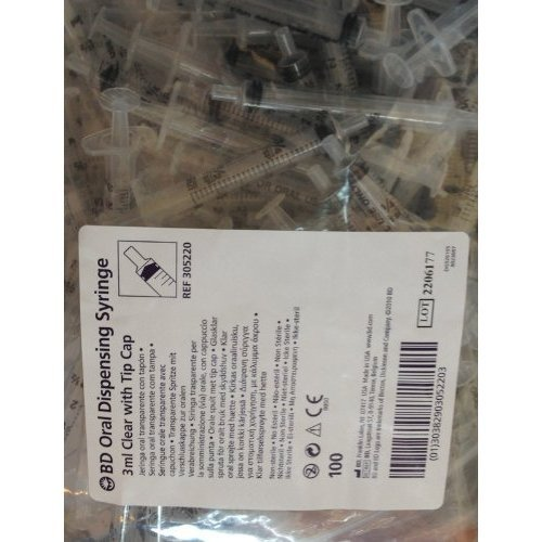 BECTON DICKSON BD ORAL SYRINGE CLEAR 100/BOX 3ML by BECTON DICKINSON *** by Becton Dickinson