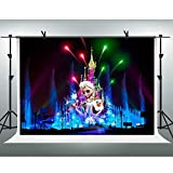 FHZON 7x5ft Frozen Anime Backgroungs for Photography Paris Disneyland Fireworks Background Wallpaper Decoration Video Prop Room Mural LXFH170