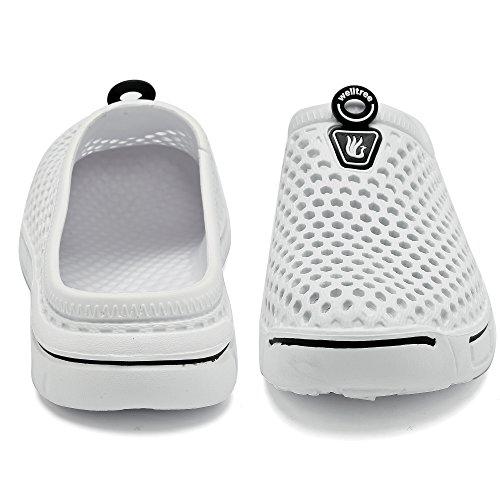 White welltree sandales Pantoufles d'été chaussures pour trous de à anti glissement marche femmes g7Bnxqg