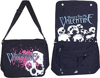 Amazon Com Bullet For My Valentine Skulls Splatter Messenger Bag