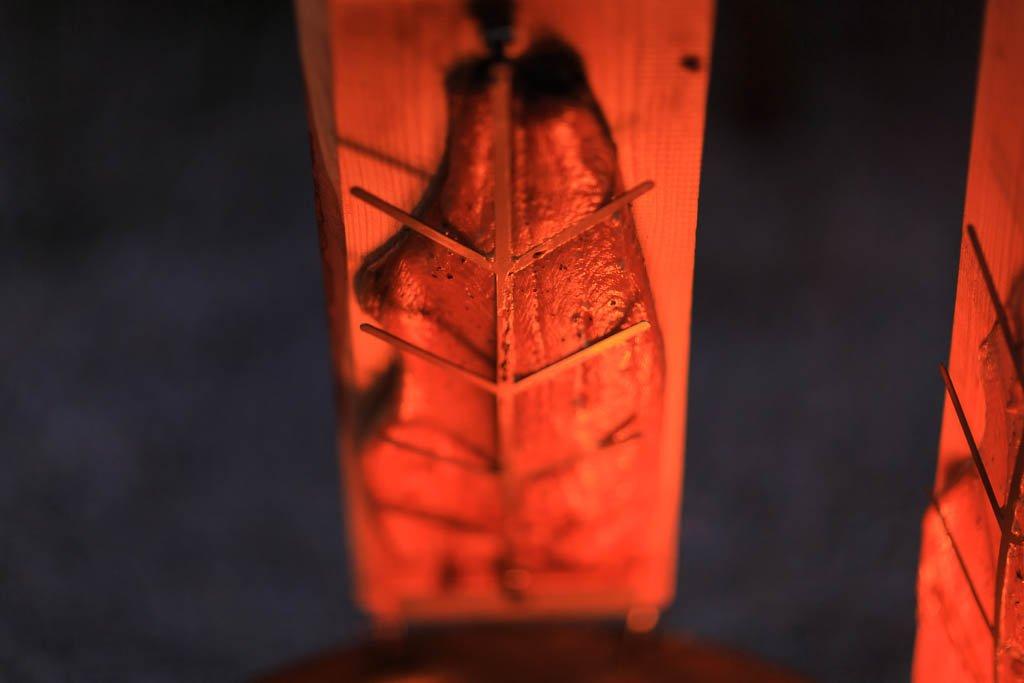 R/äucherbrett 2, L/ärche rustikal Flammlachsbrett L/ärche Geeignet f/ür Feuerschalen,Outdoor Grill und nat/ürlich Zum Verschenken ! Flammlachs Brett aus dt