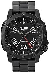 Nixon - Night Ranger All Black A9362325-00 mens swiss GMT watch stainless steel analog