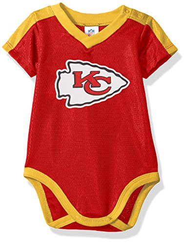 NFL Kansas City Chiefs Unisex-Baby Dazzle Bodysuit, Red, 6-12 Months ()