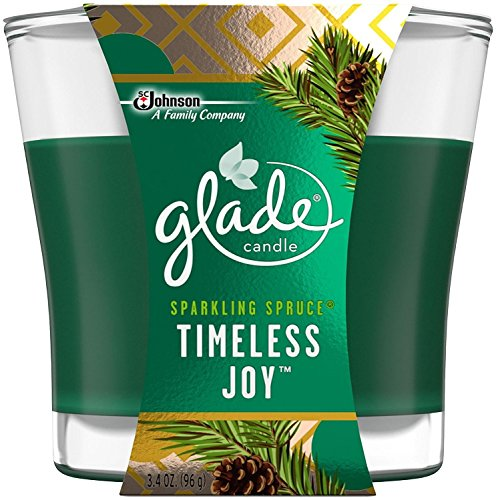 (Glade Jar Candle Air Freshener, Timeless Joy, 3.4 Ounce)