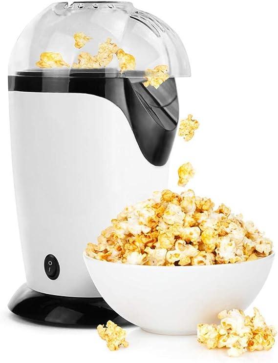 Máquina eléctrica de palomitas de maíz de aire caliente, con tapa extraíble, máquina para inflar maíz, adecuada para uso doméstico en la cocina, sin necesidad de aceite, ideal para niños, blanco: Amazon.es